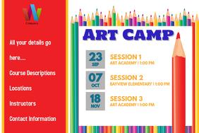 Art Summer Camp Art Class Daycare Poster Event Flyer Spring Plakkaat template