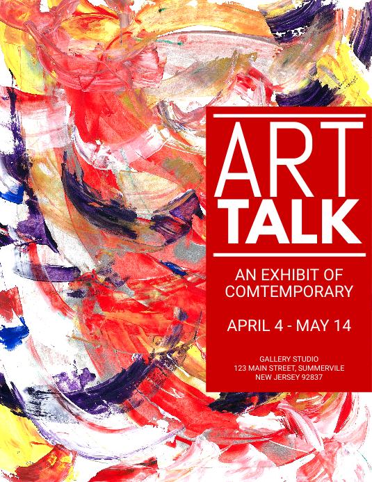 Art Talk Exhibition Flyer
