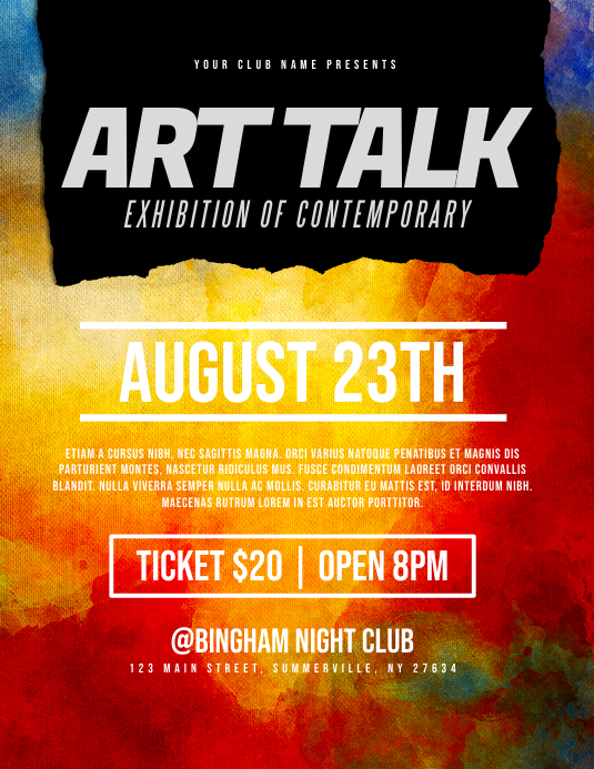 Art Talk Flyer