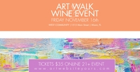 Art Walk Wine Event Flyer Banner Sampul Acara Facebook template