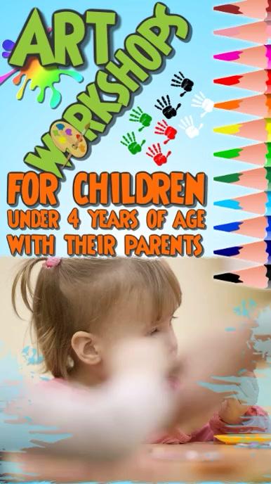 Art workshop for kids Digital Display