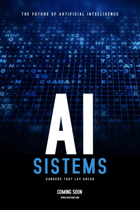 Artificial Intelligence Poster template