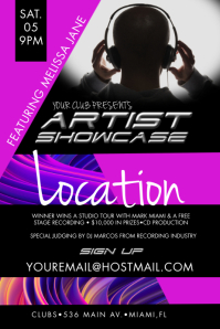 Artist Showcase Event Poster Iphosta template