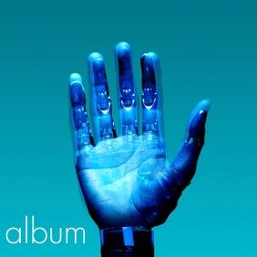 Artistic album cover bionic hand