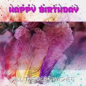 Artistic Birthday Video Template
