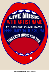 artistic concert live music poster template