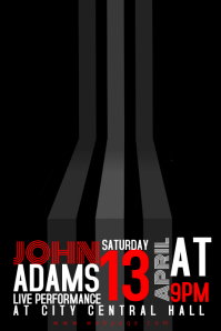 artistic event flyer template