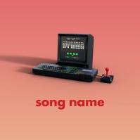 Artistic Old computer game Album art design template