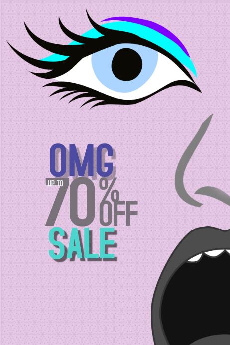 Artistic pastel portrait sale poster template