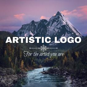 artistic photo logo Логотип template