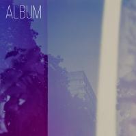 Artistic Photography Blue Album Cover Art Capa de álbum template