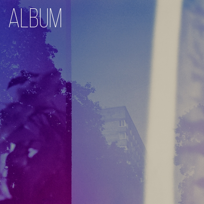 Artistic Photography Blue Album Cover Art 专辑封面 template