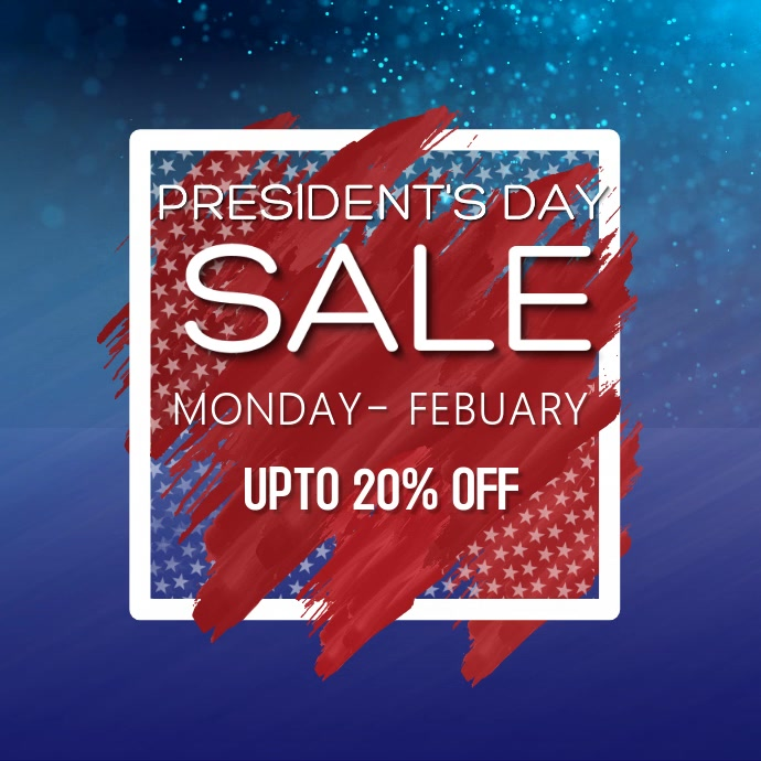 Artistic Presidents day Sale Video Template Instagram-bericht