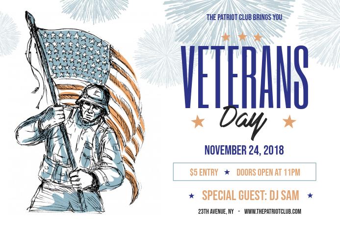 Artistic Veteran's Day Landscape Poster