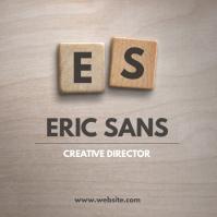 Artistic wood tiles logo design template