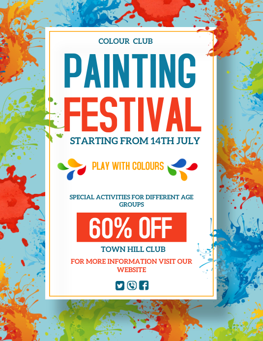 arts, Painting day Flyer (US Letter) template