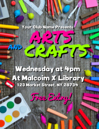 Arts And Crafts Flyer template