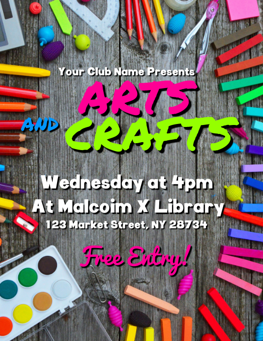 Arts And Crafts Flyer