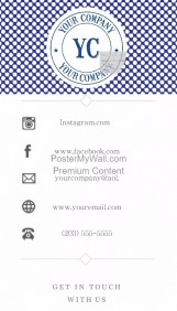 Artsy Blue Polka Dot Business Card Template Contact Info