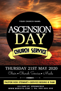 Ascension Day Poster template