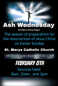 Ash Wednesday Church Template