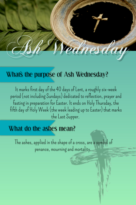 ash wednesday poster template