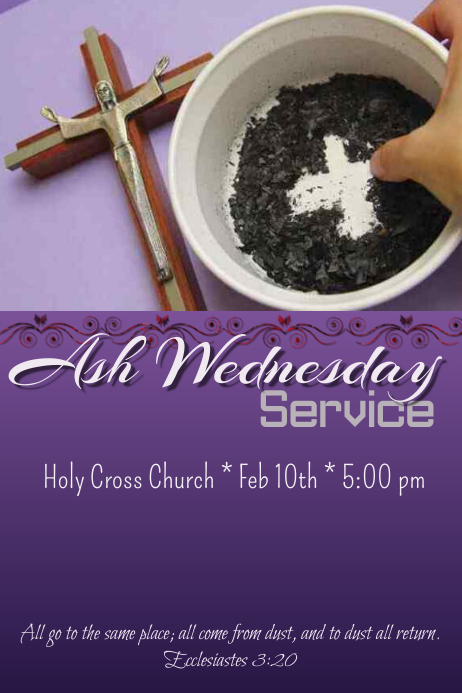 ash wednesday service template
