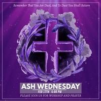 Ash Wednesday template instagram post