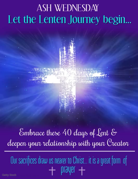 Ash wednesday video template postermywall ash wednesday video pronofoot35fo Image collections