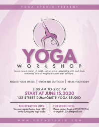 Ashtanga Yoga Class Workshop Flyer