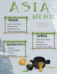 Asia Menu Flyer (US Letter) template