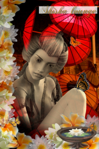 asian background/birthday/art/Japan/geisha
