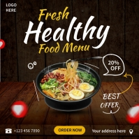 Asian Food Ads Square (1:1) template