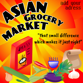asian grocery market - food store or shop - instagram post