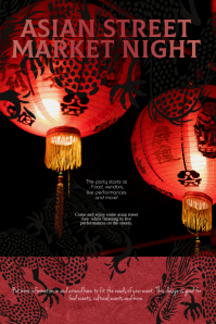 Asian Night or Festival Flyer Poster Template
