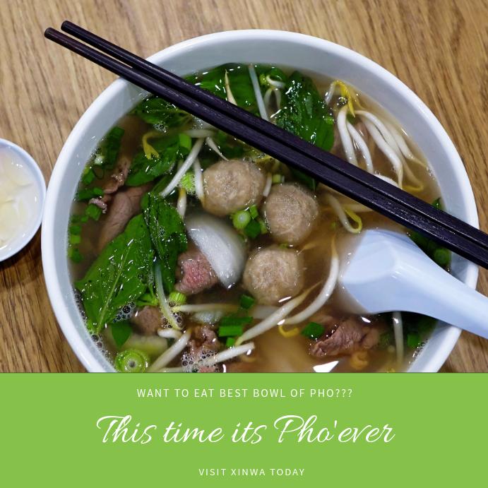 Asian Restaurant Instagram Post Template