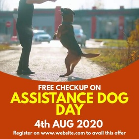 Assistance dog Day Square (1:1) template