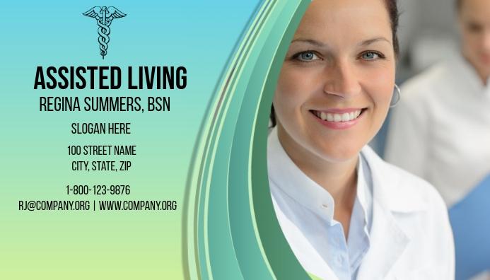 Assisted Living Business Card Cartão de visita template