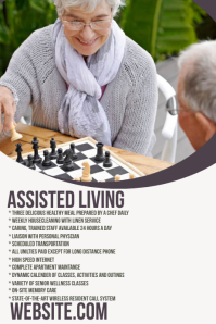 Assisted Living Business Flyer