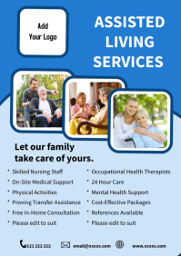 Assisted Living Care Agency Home Care templat A5 template