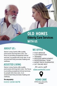 Assisted Living Flyer Video Plakkaat template