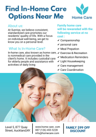Assisted Living flyers A4 template