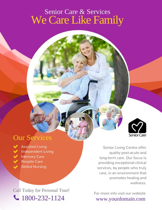 Assisted Living Senior Care Flyer