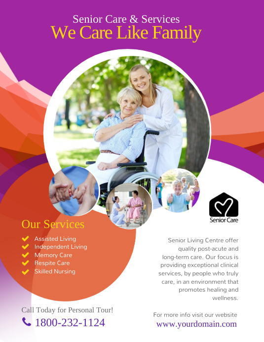 Assisted Living Senior Care Flyer