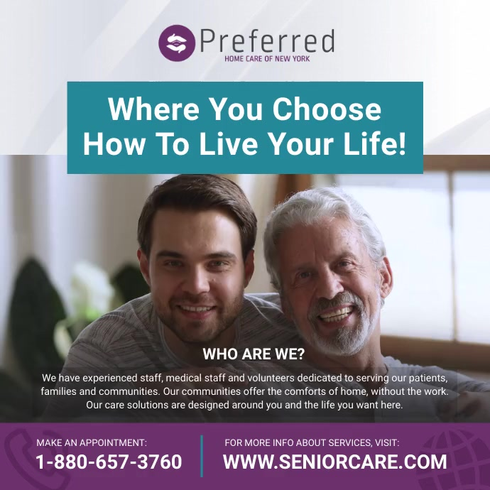 Assisted Living Square Video template