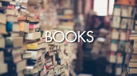 assorted books in shallow YouTube 缩略图 template