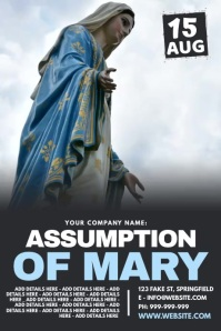 Assumption Of Mary Poster Póster template