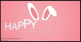 aster bunny Facebook greeting shared image