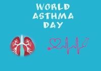 asthma day Postal template