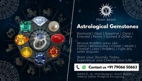 Astrology Gemstone Service Card Template Kartu Bisnis